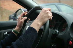 smoking while driving