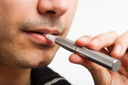 gentlemen smoking e-cigarette